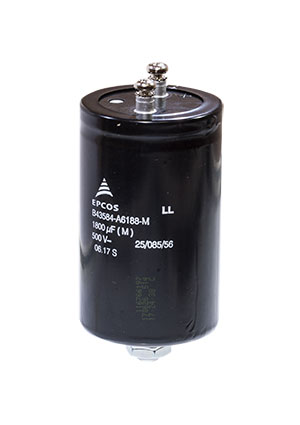 B43584A6188M, Radial, Can - Screw Terminals, 500V 1800uF /64.3*105.7/85 C M5