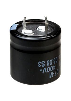 B43504B9107M, Snap-In, 400V 100uF /25*25/105 C