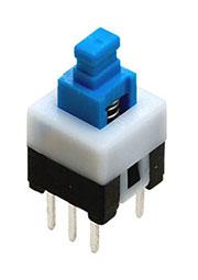MPS-700-G, кнопка с фикс. 7.0мм 30В 0.3А (аналог PS700L)