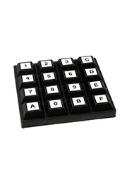 84S-BB2-014, матричная клавиатура 4x4keypad, sealed, waterproof silic