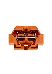 261-306, клеммная колодка 2-проводная 2.5мм2 оранж. 500В/24А