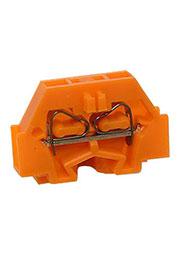 260-306, клеммная колодка 2-проводная 1.5мм2 оранж. 400В/18А