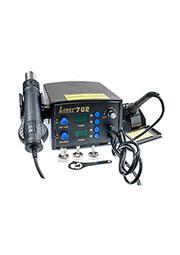 LUKEY-702, цифровая паяльная станция  (фен+паяльник)
