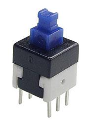 MPS-800-G, кнопка с фиксацией 8мм 30В 0.1A (B170G)