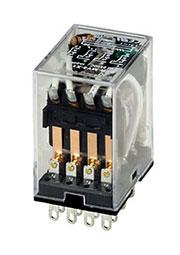 SZR-MY4-X1-DC24V, реле  24В 3А 4PDT LED+защ.диод