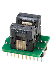 DIP20-TSOP20 ZIF, адаптер д.прогр.м-схем