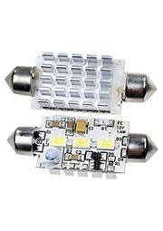 ARL-F42-3M WHITE, Автолампа белая LED(10-30V, 3 Led 5630)