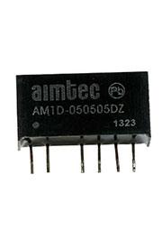 AM1D-050505DZ, SIP7, DC/DC, 1Вт, вх.4.5:5.5В, вых.2x5В/2x0.1А, SIP7
