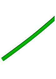 Трубка термоусадочная d 2.4 зелёная  1м, PBF (цена за 1 метр)