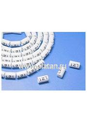 OM-8.0-4, Маркеры на кабель, круглые, цифра 4, внутренний диаметр 6.2мм (100 шт)