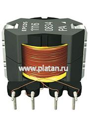 B78386-P1116-A, Трансформатор ISDN (RM6), 13.3мГн 2500В, 1.6:1.6:1:1