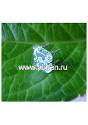 BL-FL7600PGC, Светодиод  Пиранья  зеленый 100  5000мКд 525нМ (Ultra Pure Green)