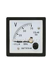 63946, Вольтметр 75В (48х48)