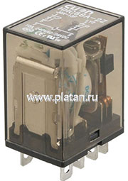 HHC68A-2Z-110A (PLUG-IN), Реле 2 пер. 110VAC / 10A, 240VAC