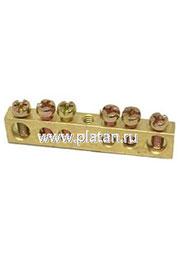 SQ0801-0048, Шина  N  нулевая 8х12мм  6/1 (6 групп/крепеж по центру)