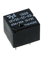 TR-20-12VDC-SC-AD, реле12V/30A,16VDC