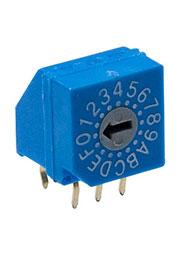 RR30014-G, переключатель кодовый 16 поз. угловой