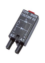 MODUL LD M43R, Модуль красный светодиод+диод (поляризация P), 110/230 VDC, LED