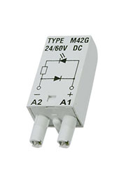MODUL LD M42G GRAY, Модуль зеленый светодиод+диод (поляризация P), 24/60VDC