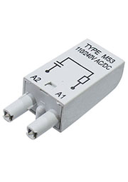 MODUL RC M53 GRAY, Модуль с резистором и конденсатором 110/240 V AC/DC