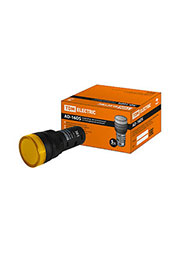 SQ0702-0052, AD-16DS(LED), лампа d16мм желтый 12В AC/DC
