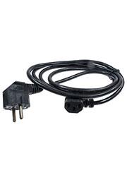 PC-186A-VDE, кабель питания угловой с заземлением 3x0.75мм2 1.8м черный