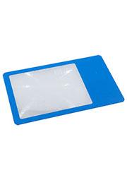 803-3X, линза френеля гибкая 3х (кредитка верт.85х54мм) для чтения синий