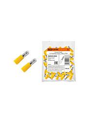 SQ0505-0006, РшИп 5,5-4 штекер (папа) желтый на пр.6мм2