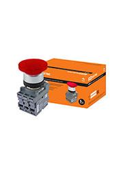 SQ0747-0029, МРМ1-10R, кнопка грибовидная в сборе d40мм 1з+1р красная