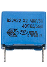 B32922C3334M, конд. X2 0.33мкФ 305VАС/630VDC 20% шаг 15мм 18х8х14мм