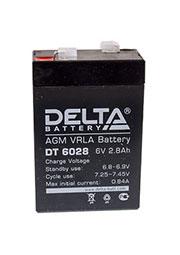 DT 6028, аккумулятор 6В 2.8Ач 66х33х99