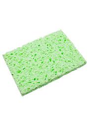 Губка для очистки паяльных жал зеленая 80х52х10