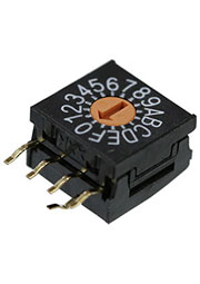 FR01FR16H-S *, FR01 Series Side Actuated 16 Position Through Hole Rotary DIP Switch