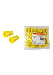 SQ0519-0009, Соединительный изолирующий зажим СИЗ-4 11,0 мм2 желтый (50 шт)