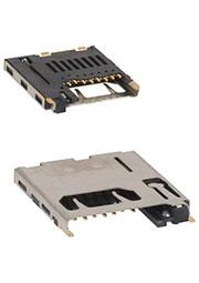 2908-05WB-MG, разъем microSD P/P SMT 8 конт. шаг 2.54мм