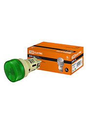 SQ0702-0013, Лампа ENR-22 сигнальная d22мм зеленая неоновая 230В цилиндрическая