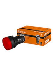 SQ0702-0016, Лампа AD-22DS(LED)матрица d22мм красный 12В AC/DC