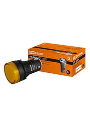 SQ0702-0017, Лампа AD-22DS(LED)матрица d22мм желтый 12В AC/DC