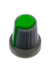 RR4817, Ручка приборная, диаметр вала 6 мм (зеленный круг)