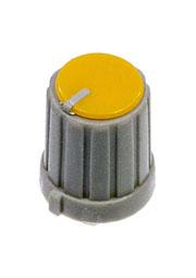 RR4853, Ручка приборная, диаметр вала 6 мм (желтый круг)