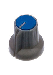 RR4836, Ручка приборная диаметр вала 6 мм (синий круг)