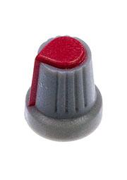 RR4817, Ручка приборная, диаметр вала 6 мм (красный круг)