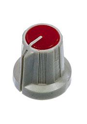 RR4836, Ручка приборная, диаметр вала 6 мм (красный круг)