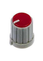 RR4853, Ручка приборная, диаметр вала 6 мм (красный круг)
