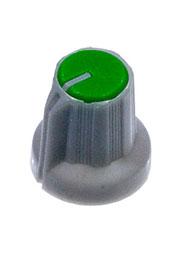 RR4836, Ручка приборная, диаметр вала 6 мм (зеленый круг)