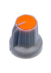 RR4836, Ручка приборная, диаметр вала 6 мм (оранжевый круг)