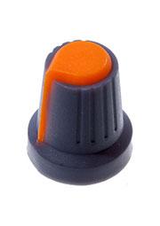 RR4817, Ручка приборная, диаметр вала 6 мм (оранжевый круг)