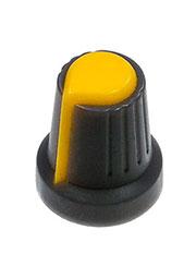 RR4817, Ручка приборная, диаметр вала 6 мм (желтый круг)