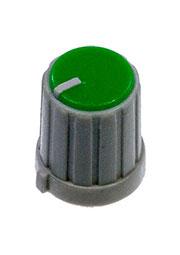 RR4853, Ручка приборная, диаметр вала 6 мм (зеленый круг)