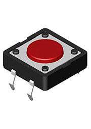 DTS-21N-V, кнопка тактовая 12x12 H-4.3 160gf